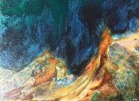 Prehistoric Landscape 36x48 Super Huge Original Painting by Leonardo Nierman - 0