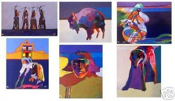 Leather Bound Folio of 30 Serigraphs, Six Removable For Framing 1996 Limited Edition Print by John Nieto