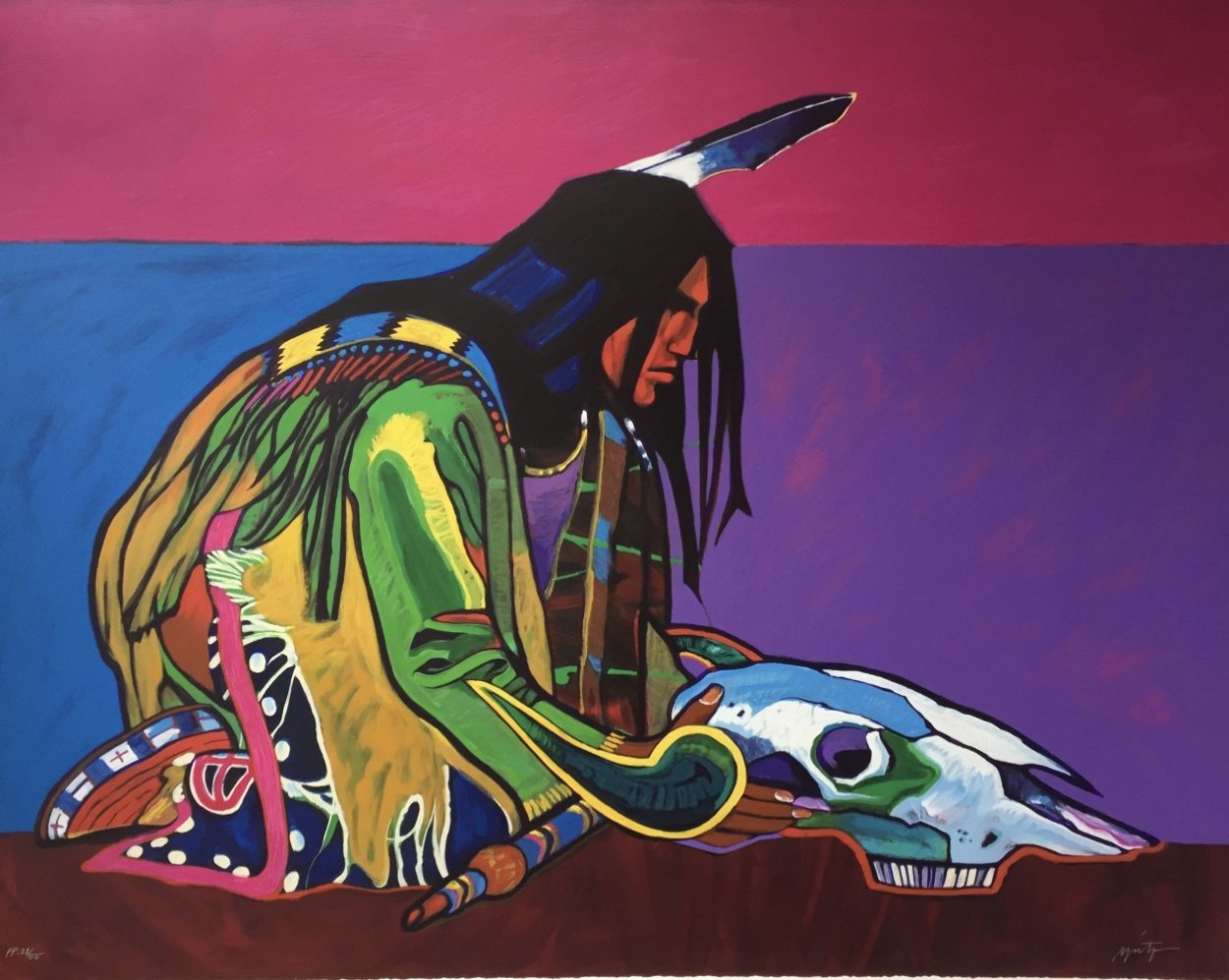 Prayer For the Return of the Buffalo 1998 Limited Edition Print by John Nieto