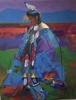 Dancer At Taos Pow Wow AP 1994 Limited Edition Print by John Nieto - 0