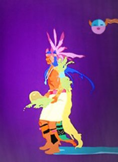 Indian Drum Dancer 1990 Limited Edition Print by John Nieto
