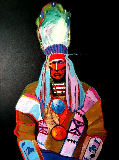 Chief Curly Bear 62x50 Original Painting by John Nieto