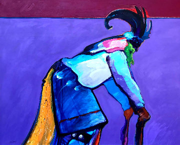 Ram Dancer 1986 50x62 Original Painting - John Nieto