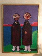 Olla Bearers 1984 42x32 Super Huge Original Painting by John Nieto - 1