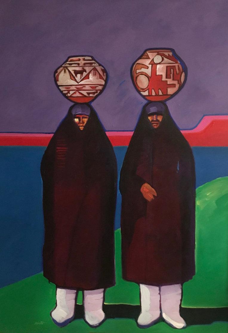 Olla Bearers 1984 42x32 Super Huge Original Painting by John Nieto