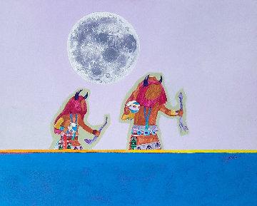 Cosmic Dance 2001 27x34 Original Painting - John Nieto