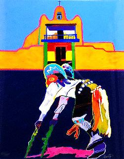 San Ildefonso Pueblo Church 1996 Limited Edition Print - John Nieto