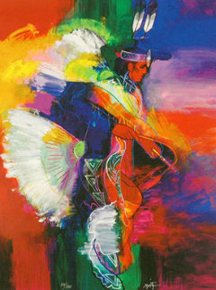 Fancy Dancer I and II, Set of 2 Giclees 2008 Limited Edition Print - John Nieto