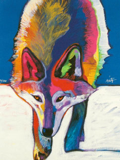 Mexican Gray Wolf Hunting in the Snow 2008 Limited Edition Print by John Nieto