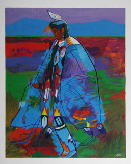Dancer At Taos Pow Wow 1994 Limited Edition Print - John Nieto