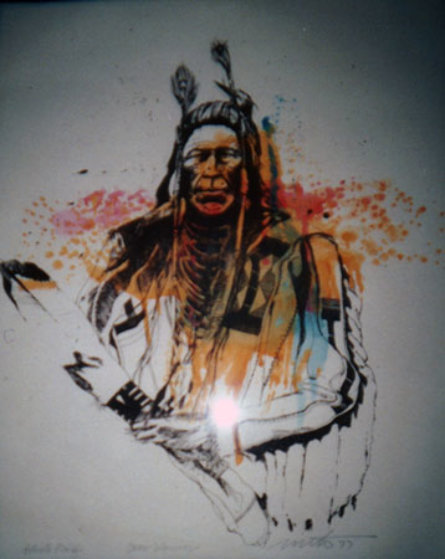 Crow Warrior 1977 Limited Edition Print by John Nieto