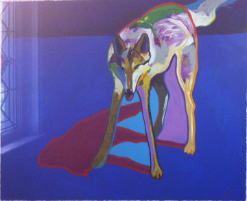 Wolf 1999 Embellished Limited Edition Print by John Nieto