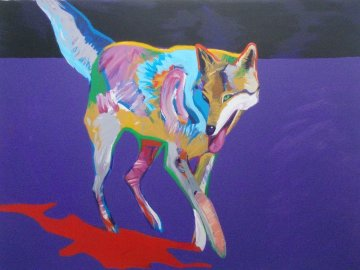 Wolf on the Prowl Limited Edition Print by John Nieto