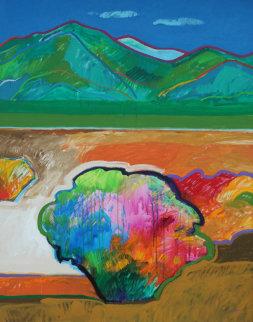 Chamizo (Near Arroyo Seco) 1992 60x48 Original Painting - John Nieto