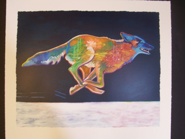 Higher (Coyote) 2002 Limited Edition Print by John Nieto
