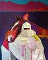 Taoseno 1989 61x49 Ceremony Original Painting - John Nieto
