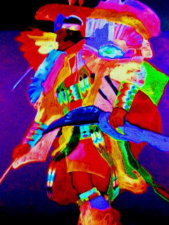 Fancy Dancer 1989 61x49 Original Painting - John Nieto