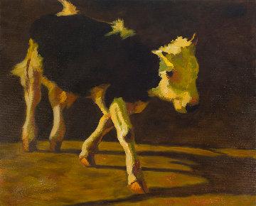 Goby 2014 41x51 Huge  Original Painting - Robert Nizamov