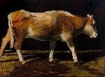 Cow 2014 41x55 Original Painting - Robert Nizamov