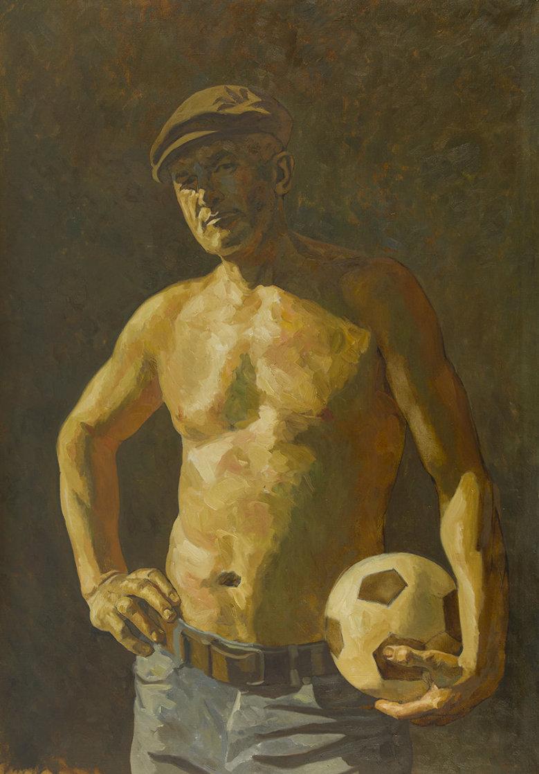 Footballer 2018 59x41 Huge Original Painting by Robert Nizamov