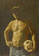 Footballer 2018 59x41 Huge Original Painting by Robert Nizamov - 0