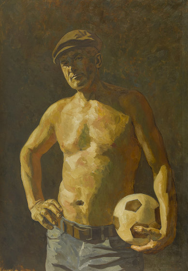 Footballer 2018 59x41 Original Painting by Robert Nizamov