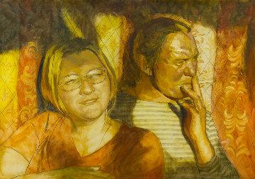 Portrait 2019 41x59 Huge Original Painting - Robert Nizamov