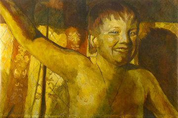 Portrait 2019 41x41 Huge Original Painting - Robert Nizamov