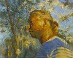 Portrait 2019 41x51 Original Painting - Robert Nizamov