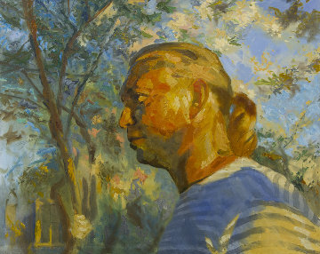 Portrait 2019 41x51 Huge Original Painting - Robert Nizamov
