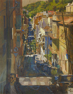 Barcelona 2019 53x41 Original Painting - Robert Nizamov