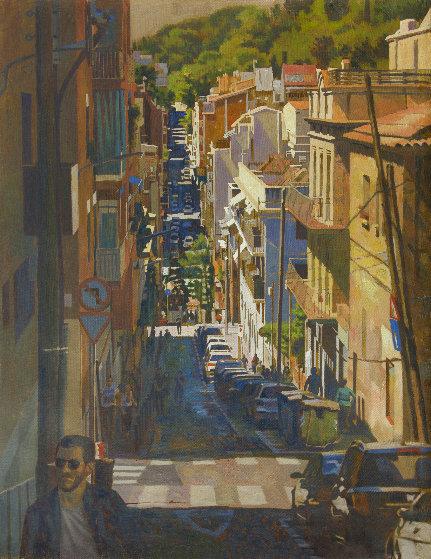 Barcelona 2019 53x41 Original Painting by Robert Nizamov