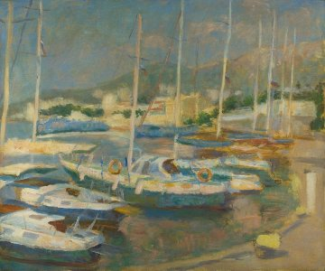 Regatta 2014  39x47 Original Painting - Robert Nizamov
