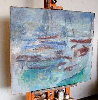 Regatta II 2014 39x47 Original Painting - Robert Nizamov