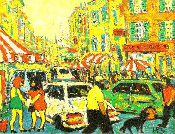 City 1998 18x23 Original Painting by Robert Nizamov