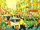 City 1998 18x23 Original Painting - Robert Nizamov