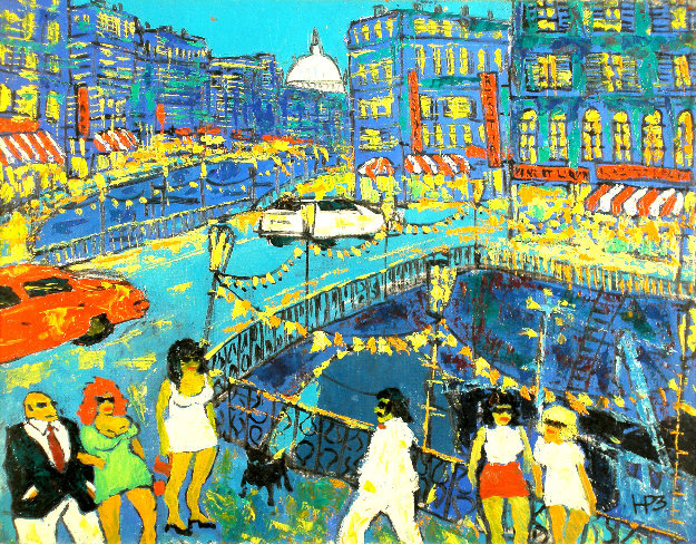 City 1998 18x23 Original Painting by Robert Nizamov