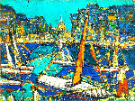 Regatta 1998 18x23 Original Painting - Robert Nizamov