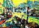 City II 1998 20x27 Original Painting - Robert Nizamov