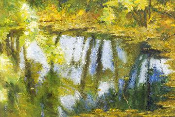 Pond 2020 40x61 Huge Original Painting - Robert Nizamov