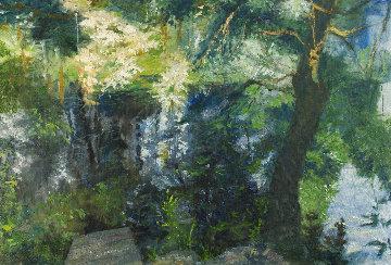 Pond  II 40x61 Huge Original Painting - Robert Nizamov