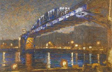 Pushkin Bridge 2020 40x59 Huge Original Painting - Robert Nizamov