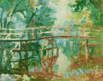 Bridge 2010 40x42 Original Painting by Robert Nizamov