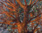 Tree 2010 41x52 Original Painting - Robert Nizamov