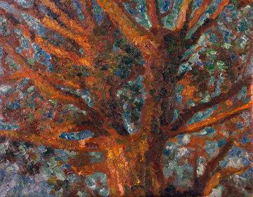 Tree 2010 41x52 Super Huge Original Painting - Robert Nizamov