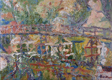 Bridge 2010 40x55 Original Painting by Robert Nizamov