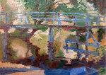 Bridge II 2010 Original Painting - Robert Nizamov
