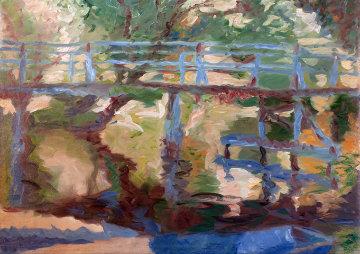 Bridge II 2010 40x57 Super Huge Original Painting - Robert Nizamov