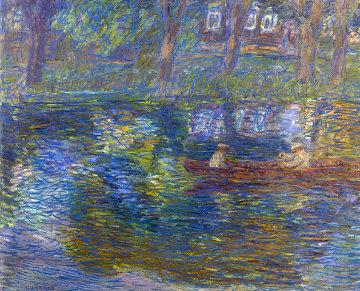 Small River 1999 33x39 Original Painting by Robert Nizamov