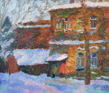 Winter 1999 31x36 Original Painting - Robert Nizamov